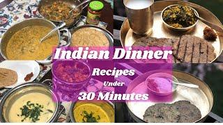 Easy Indian Dinner Ideas For Family ~ Indian Dinner Recipes In 30 Minutes ~ Ami's Lifestyle