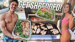 HOW TO MEAL PREP TO GAIN MUSCLE FOR ONE WEEK IN ONE HOUR! *EASY MEAL PREP* | SHRED SERIES EP. 2