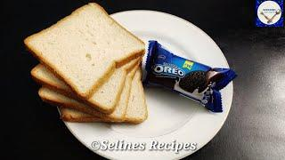 Oreo Bread 5 minutes Quick Evening Snacks |Crispy&Sweet Bread Snacks|Lockdown Recipes|Instant Snacks