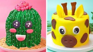 10 Amazing Animal Themed Cake Recipes | Homemade Buttercream Cake Decorating Ideas For Party