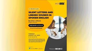Britzone's Class LIVE - Silent Letters and Linking Sounds in Spoken English