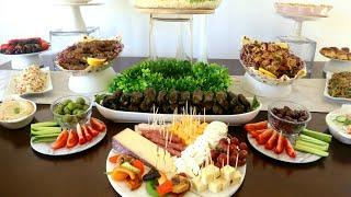 Party Appetizer Buffet Table | Party Finger Food Ideas