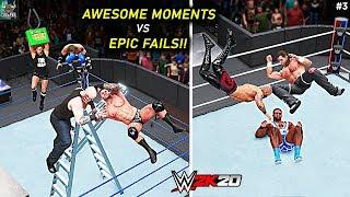 WWE 2K20 Top 10 Awesome Moments vs Epic Fails!! Part 3
