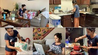 Current Situation In USA| Indian Mom Day To Night Routine With a Kid During #Coronavirus(#Covid19)