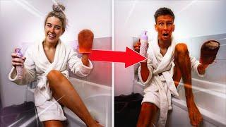 COPYING my GIRLFRIEND for 24 HOURS!! **GONE WRONG**