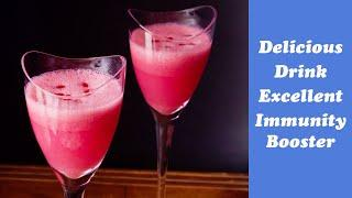 Immunity Booster Pink Lime Juice, simple & tasty lime juice, easy welcome drink, summer drink, lime