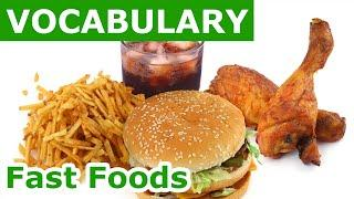 Fast Food Vocabulary | Learn english vocabulary with Pictures Lesson 19