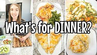 WHAT'S FOR DINNER? | EASY DINNER IDEAS | SIMPLE DINNER RECIPES | BUDGET FRIENDLY MEALS