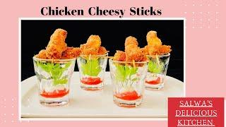 Chicken Cheesy Sticks | Easiest Chicken Starter | Chicken Toothpick Recipe | Easy Party Snack