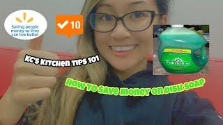 Kitchen Tips 2020 | How to Save Money on Dish Soap | English & Tagalog Version | Save $ Live Better!