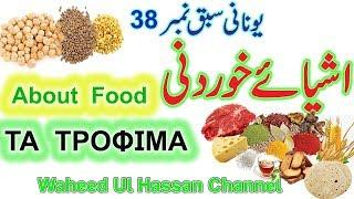 Greek Food names through Urdu/english Learn Greek lesson no.38 by WAHEED UL HASSAN