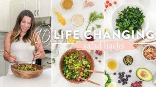 10 *LIFE CHANGING* SALAD HACKS | How To Make Salads That Don't Suck!