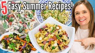 5 of the BEST Summer Recipes | EASY Pasta Salads & Side Dishes | Julia Pacheco