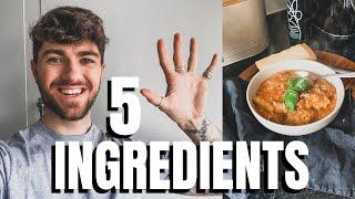 5 INGREDIENT MEALS | VEGETARIAN EASY AND QUICK MID WEEK RECIPES | COOK #WITHME | LUKE CATLEUGH