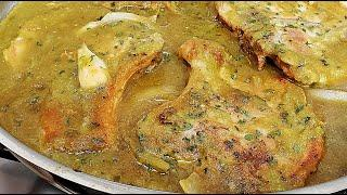 Pork Chops in Salsa | Pork Chops in Salsa Verde Recipe