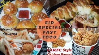 5 Fast Food Recipes for Eid Ul Fitr party snacks You Can Make at Home easily by (yummy food point)