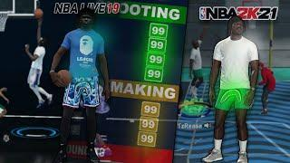 my NBA LIVE 21 BUILD is OVERPOWERED in NBA 2K21!! (LIVE 21 vs 2K21) [PS5]