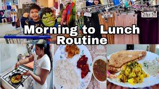 Indian  Morning Routine ( breakfast + lunch) || Indian Mom Morning routine || Real breakfast routine