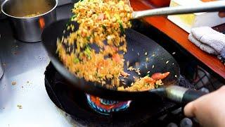 Chinese Street Food - 10 Years of Wok Tossing Skill Wok Hei Egg Fried Rice #Shorts