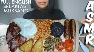 ASMR FULL ENGLISH BREAKFAST MUKBANG | ENGLISH FOOD | WHISPERING | REAL EATING SOUNDS