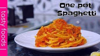 ONE POT SPAGHETTI| pasta recipes | tasty foods | 4k