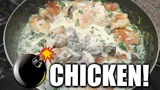Creamy Chicken Thighs Recipe I Cook With Me 2020 I Easy Chicken Dinner Recipes