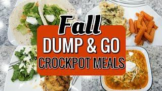 5 EASY DUMP & GO DINNER RECIPES FOR FALL | SIMPLE CROCKPOT MEALS | SLOW COOKER | LivingThatMamaLife