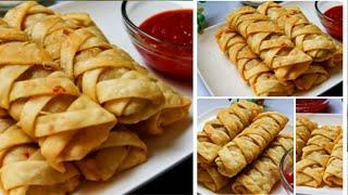 Evening Snack Recipe | Snacks Recipe | Tea Time Recipe | Strips Samosa Easy & quick Recipe | Samosa