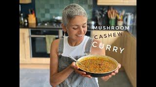 MUSHROOM CASHEWNUT CURRY | Vegetarian curry | Healthy curry recipe | Indian food | Food with Chetna