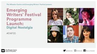 Emerging Writers' Festival Programme Launch 2020: Digital Nostalgia
