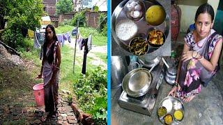 SIMPLE INDIAN LUNCH ROUTINE 2019/REAL INDIAN HOUSEWIFE EVERYDAY MORNING ROUTINE/patta Gobhi/longbean