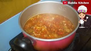 How to make Mixed Vegetable Chicken Soup   Healthy Vegetarian Soup   Quick and healthy soup