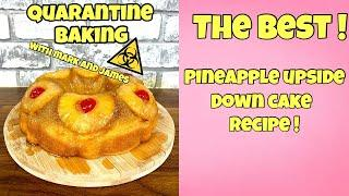 The BEST Upside Down Pineapple Cake Recipe! | How To Make An Upside Down Pineapple Cake