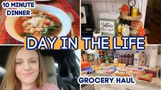 DAY IN THE LIFE | ALDI GROCERY HAUL | 10 MINUTE DINNER RECIPE