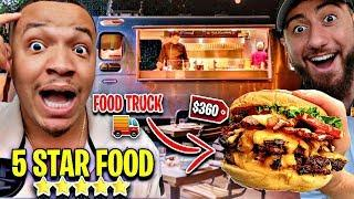 Eating At The BEST REVIEWED FOOD TRUCK!! ($1,000 Expensive Food Dishes) FT CHADWITHAJ *5 STAR FOOD*