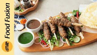 Street Style Dhaga Kabab Recipe By Food Fusion (Bakra Eid Special)
