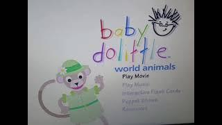 Baby dolittle world animals dvd menu