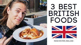 British Food Tour - 3 Dishes You HAVE to Try in England! (Americans try British food)