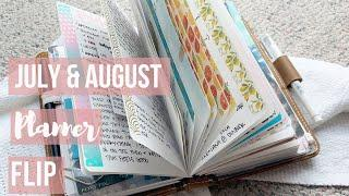 July and August Flip Through of my Travelers Notebook