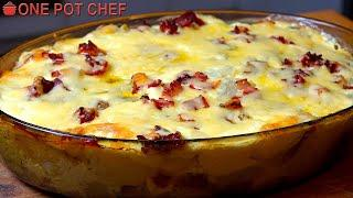 Fully Loaded Baked Potato Casserole | One Pot Chef