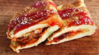 Omelette Kabab Sandwich / Quick and Easy Breakfast Recipe / Breakfast Sandwich / Easy Breakfast idea