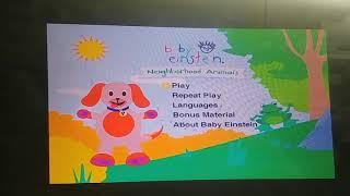 Baby Einstein Neighborhood Animals 2003 DVD Menu Walkthrough