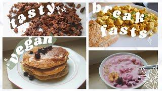 4 Tasty Vegan Breakfast Recipes Everyone Can Make // (easy, healthy and delicious)
