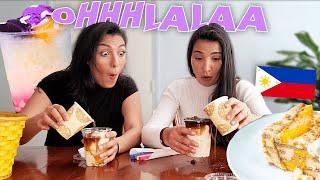 French people trying Filipino Desserts