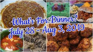 What's For Dinner?  July 28 - August 3, 2019 | Cooking for Two | Easy Weeknight Meals