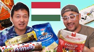 Japanese Guys Try Hungarian Snacks & Food