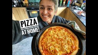 Delicious Pizza at home | Cook with me | Easy Pizza recipe | #withme | Food with Chetna