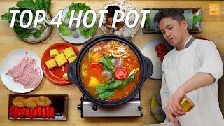 Top 4 Hot Pot in China | Chinese Food | Taste Show