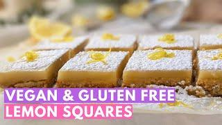 Easy Vegan and Gluten Free Desserts: Oat and Almond Lemon Squares