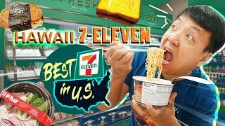 Trying HAWAII 7-ELEVEN | Hawaiian Food Review! BEST 7-ELEVEN in U.S.